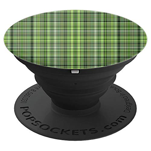 - Green Plaid Funny Irish Pride Saint St Patricks Day Gift - PopSockets Grip and Stand for Phones and Tablets