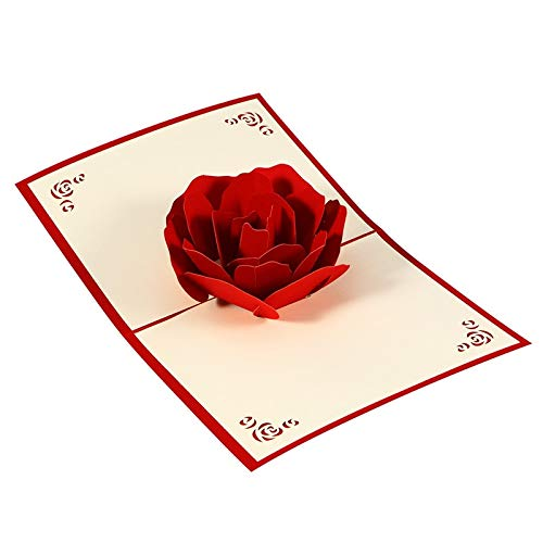 3D Pop Up Cards Valentine Lover Happy Birthday Anniversary Greeting Cards For Birthday Valentine Holiday -