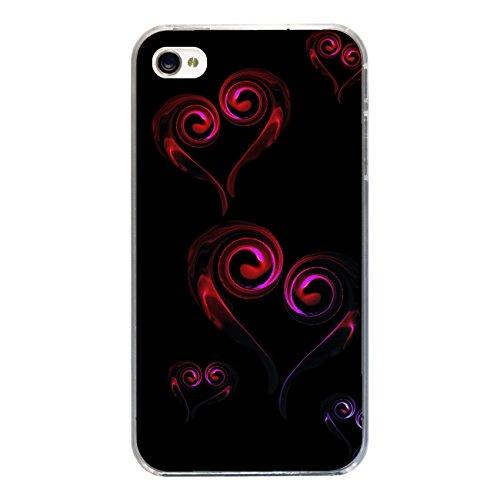 """Disagu Design Case Coque pour Apple iPhone 4s Housse etui coque pochette """"Hearts"""""""