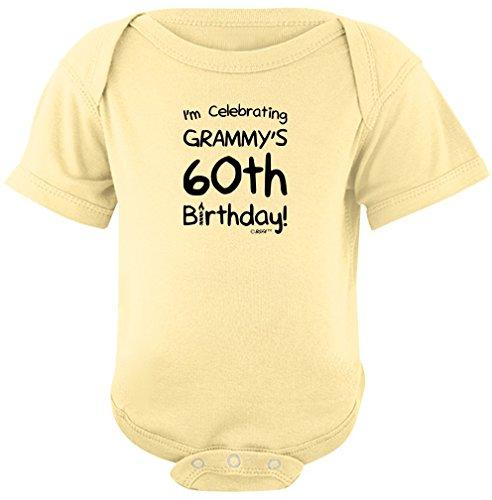Funny Baby Clothes I'm Celebrating Grammy's 60th Birthday Bo