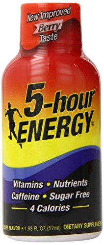 5-Hour Energy Dietary Supplement New Improved Berry Taste 1.93 Fl OZ Pack of 24 from 5-Hours Energy