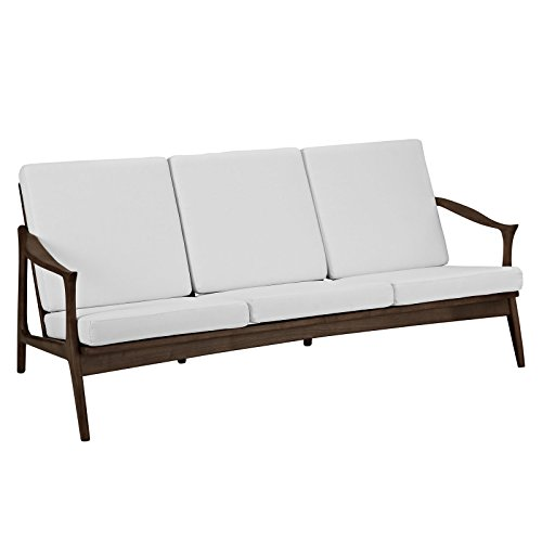 Pace Upholstered Sofa in Walnut White