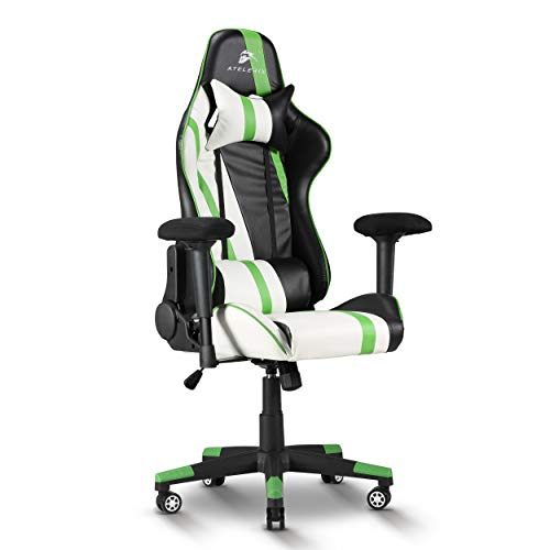 Atelerix Ventris Gaming Chair – PU Leather, Fabric, & Extra Wide Options – Office or Computer Chair – Tilting…