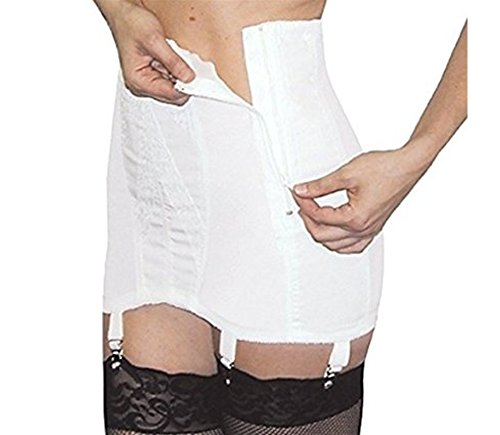 Rago Side Zip Extra Firm Open Bottom Girdle Style 463 - White - 7XLarge