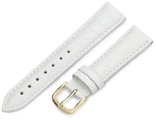 Hadley-Roma Women's LSL717RT 180 18-mm White Crocodile Grain Watch ()