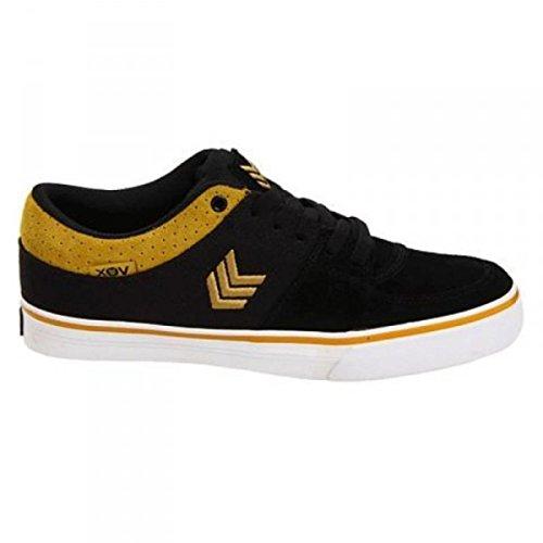 Vox Skateboard Schuhe Passport Black/Gold/White