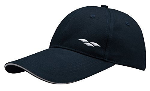 MIER Sandwich Hat Long Bill Baseball Cap for Men and Women, Sun Protection, Navy