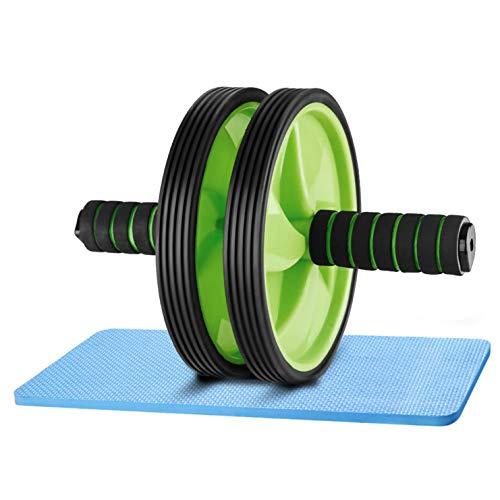 4MA Buikroller met kniebeschermers voor buikspieren, work-out, rolschaatsen, oefeningen, dubbele wielen, set…