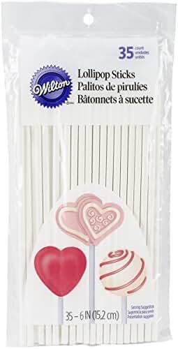 Wilton 6 Inch Lollipop Sticks, 35 Count