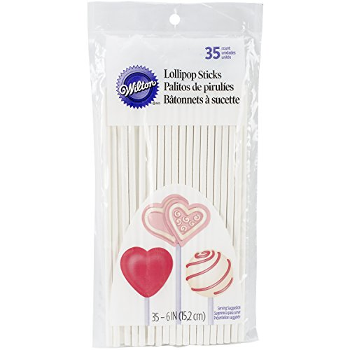 Wilton 6 Inch Lollipop Sticks, 35 Count