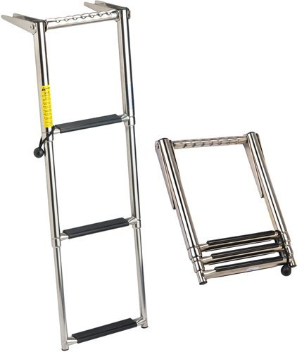- Garelick 19677:01 EEz-In Over-Platform Telescoping Ladder - 4 Step