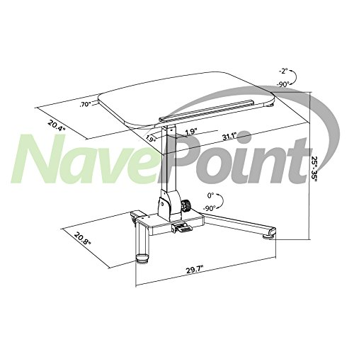 NavePoint Height Adjustable Folding Compact Mobile Laptop Desk Portable Workstation by NavePoint (Image #4)