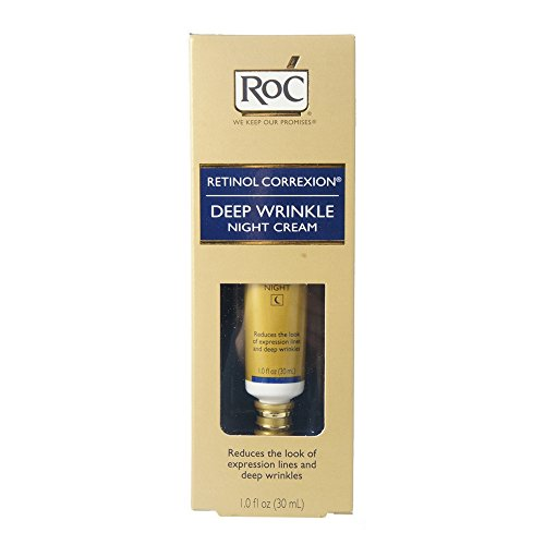 Retinol face cream. Roc Retinol Correxion Deep Wrinkle Night Cream 1 Ounce (29ml) (6 Pack). #antiaging #antiagingskincare