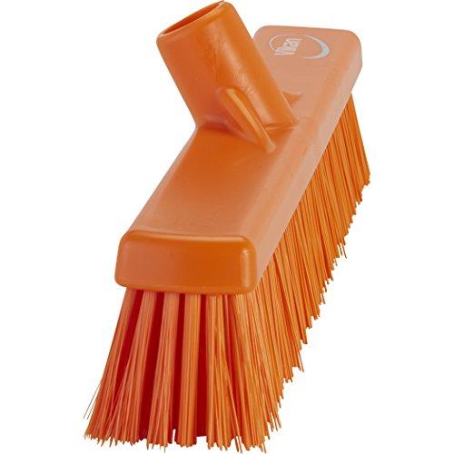 Vikan 31747 Coarse/Fine Sweep Floor Broom Head, Polypropylene Block, 16-1/2'' Polyester Bristle, Orange by Vikan (Image #1)
