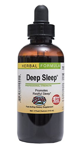 Deep Sleep - Natural Herbal Sleep Aid Supplement - Non-Habit Forming - All Natural Sleep Remedy - 4 oz Liquid Extract (Contains Fresh Extracts of California Poppy, Valerian, Passionflower, Chamomile, Lemon Balm & More) - Herbs Etc (Best Sleep Aid Medicine)
