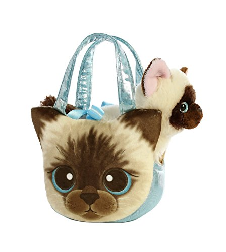 (Aurora World Fancy Pals Pet Carrier Siamese Kitten Plush)