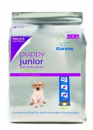Kannis Puppy Junior Chicken Rice Dry Dog Food For Small Medium