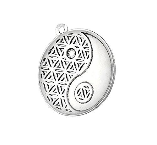 Yin Yang fiore della vita ciondolo braccialetto di grano