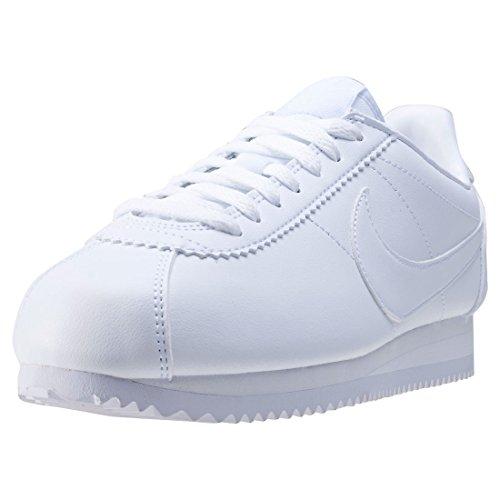 ogromny wybór Data wydania sportowa odzież sportowa delicate Nike Women's Wmns Classic Cortez Leather, WHITE ...