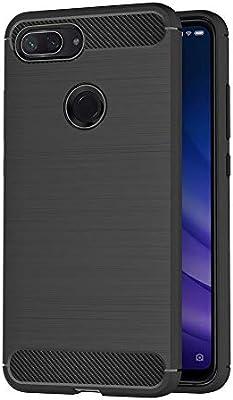 AICEK Funda Xiaomi Mi 8 Lite, Negro Silicona Fundas para Xiaomi 8 ...