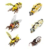 Realistic Fly Fishing Flies 6pcs Terrestrial Bumble Wasp Trout Dry Wet Lure