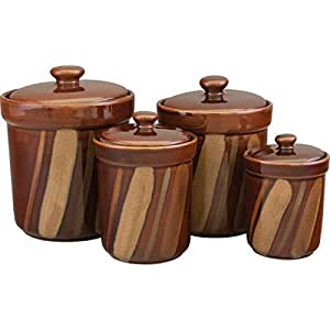 kitchen storage canisters kitchen canister set counter storage 4 pc lids 13810