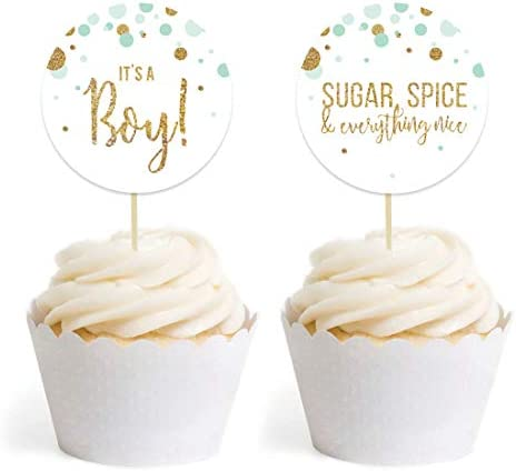 1-Pack Andaz Press Baby Shower Wood Cake Toppers Decor Decorations Its A Boy