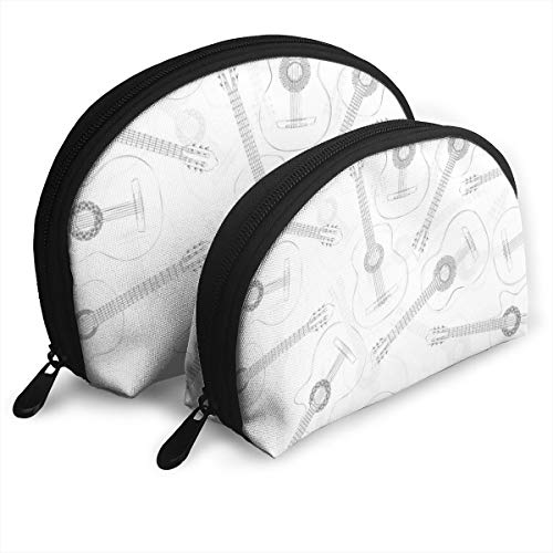 Zimubeikebao456 Western Jazz Acoustic Guitars Women¡¯s Travel Cosmetic Bags Waterproof FabricSmall Makeup Clutch Pouch Cosmetic and Toiletries Organizer Bag Portable Travel Toiletry Pouch
