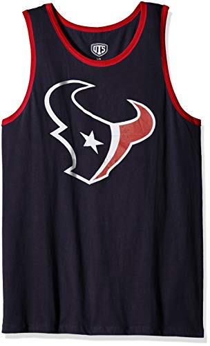 NFL Houston Texans Male NFL OTS Cotton Tank Distressed, Fall Navy, -