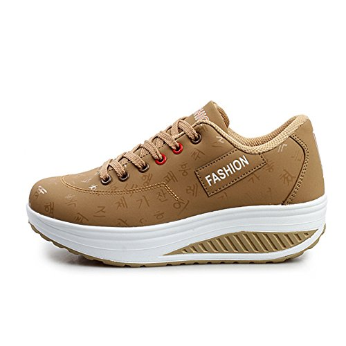 WYSBAOSHU Breathable Womens Running Sports Walking Khaki Shoes 1 Sneakers xwxqr4F