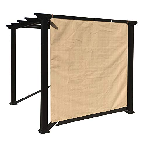 Alion Home Sun Shade Privacy Panel with Grommets on 2 Sides for Patio, Awning, Window Cover, Canopy, Pergola or Gazebo - Banha Beige (8'X 6')