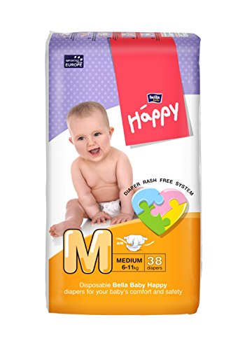 Bella Baby Happy Taped Diapers Medium M Size 38 Pieces