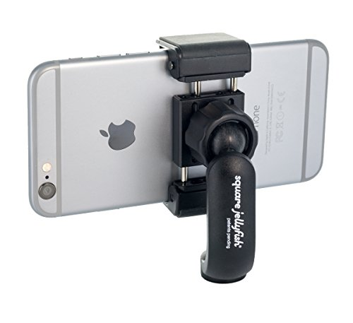 Square Jellyfish Tripod Mount - 360 Degree Swivel Squeeze Grip Compatible with All iPhone and Android
