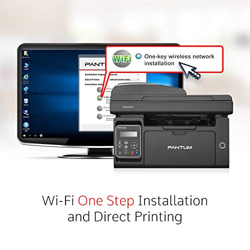 Pantum M6552NW Monochrome Laser Multifunction Printer with Wireless Networking Mobile Printing Large Paper Capacity by Pantum (Image #5)