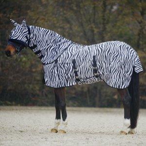 Waldhausen Fliegendecke Zebra, schwarz/weiß, 165 cm