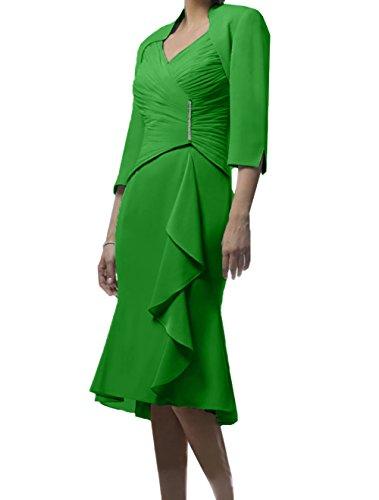 Himmel Etuikleider Damen Partykleider Brautmutterkleider Blau Knielang Festlichkleider Kurz Grün Charmant Abendkleider gw54BAInq