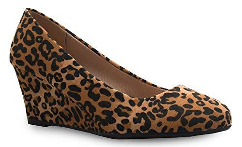 - OLIVIA K Women's Adorable Low Wedge Heel Shoe - Easy Low Pumps - Basic Slip On, Comfort