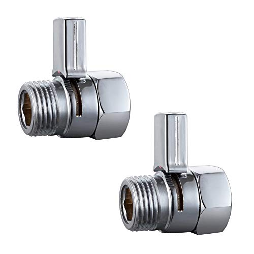 Polished Chrome Push Control (KES Shower Head Shut-Off Valve Brass with Metal Push Button Handle, Polished Chrome, 2 Pack, K1140B-P2)