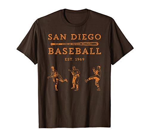 Brown Padres Hat - Classic San Diego Baseball Fan Retro Vintage T-Shirt
