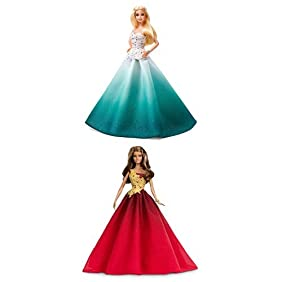 Barbie 2016 Holiday Doll 2-pack (Aqua and Red)
