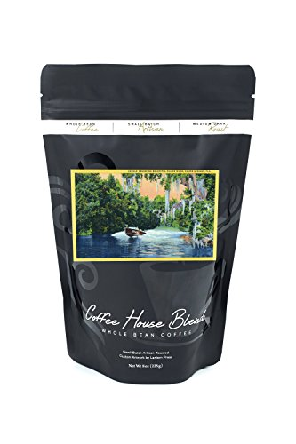 Silver Springs, Florida - View of a Speedboat Cruising the Silver River and Jungle (8oz Whole Bean Small Batch Artisan Coffee - Bold & Strong Medium Dark Roast w/ Artwork) (River Jungle)