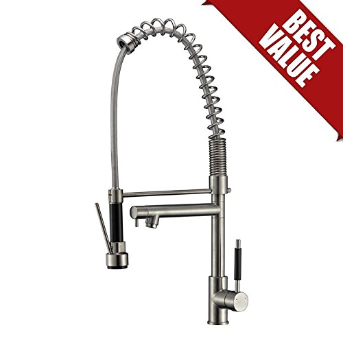Refin Heavy Duty Kitchen Faucet Brushed Nickel High Arc Soft Single Handle Sturdy And Durable Pull Down Pre Rinse Sprayer Kitchen Sink Faucet Used Only Opend Package Buy Online In Aruba At