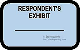 RESPONDENT\'S EXHIBIT Labels Stickers Light Blue 492 per pack