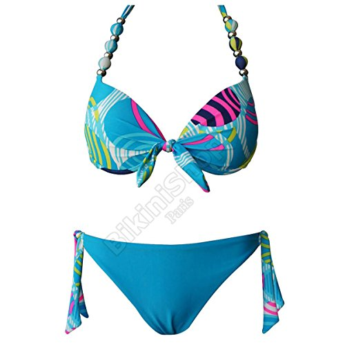 Bikiwi Damen Bikini-Set blau blau