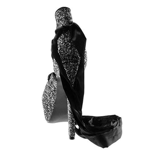 Chaussure Pailettes Mode 5 Sandale Haut Decolleté Satin Angkorly Stiletto Lacet Femme 14 Aiguille Ruban Argenté Escarpin Cm Disco Noir Talon dSPpFx