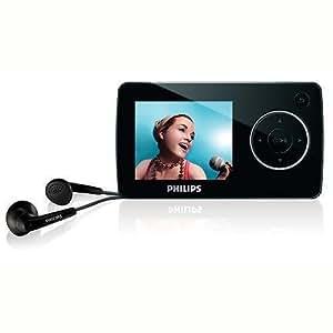 Philips GoGear Reproductor de audio y vídeo flash SA3247/02 - Reproductor MP3 (Reproductor de MP4, Negro, Digital, Flash-media, 4 GB, LCD)