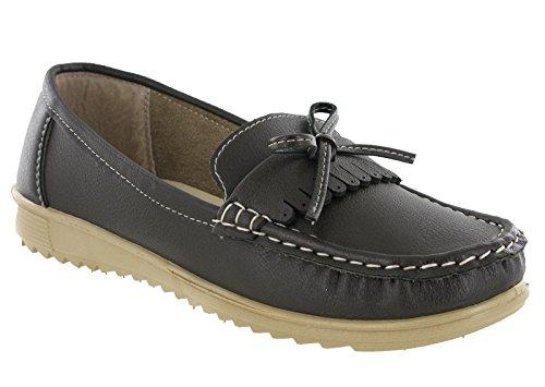 Casual Sommerurlaub Elba Womens Loafer Mokassin On Slip Schuhe Deck Braun Flache Amblers pfgx0HZwqg
