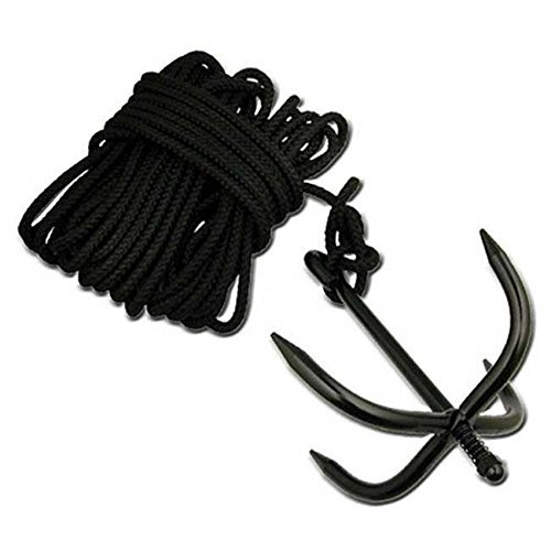GRAPPLING ANCHOR HOOK WITH NYLON NINJA ROPE CADET, HUNTING, BUSHCRAFT 6408