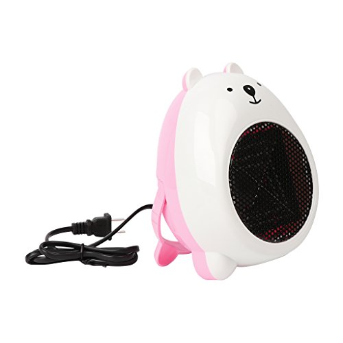 Price comparison product image AISme Mini Electric Heater Portable Space Desktop Home Cartoon Bear Warmer Fan Heater (White)