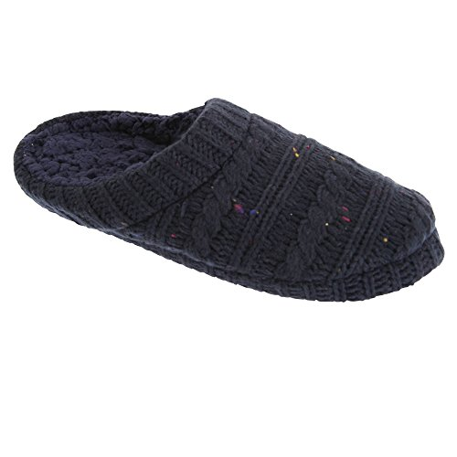 Knitted Shoes SlumberzzZ Speckle Mens Navy Slipper 58xRwqgfw